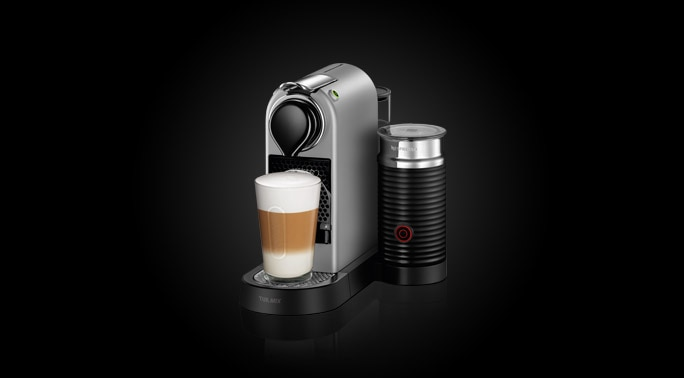 machine caf turmix citiz milk silver nespresso. Black Bedroom Furniture Sets. Home Design Ideas