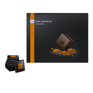 Nespresso Dark Chocolate Salted Caramel Squares Box