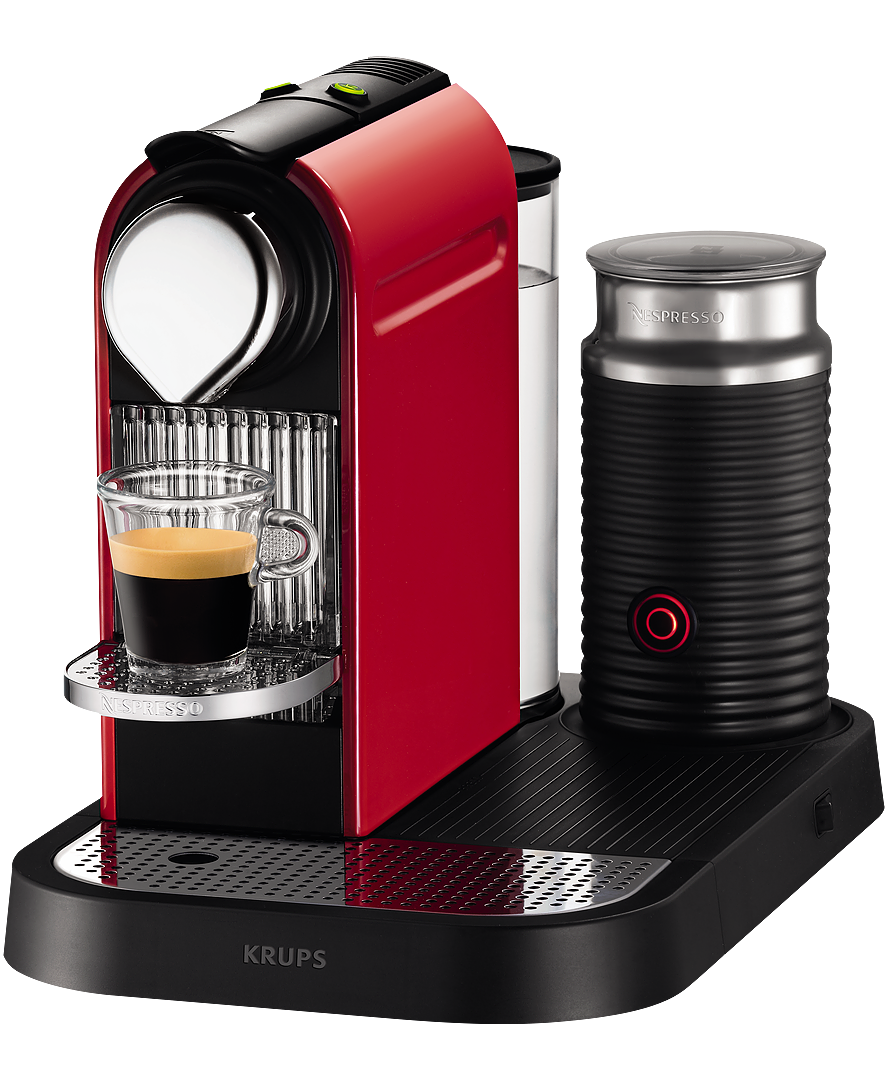 krups citiz milk fire engine coffee machine nespresso. Black Bedroom Furniture Sets. Home Design Ideas