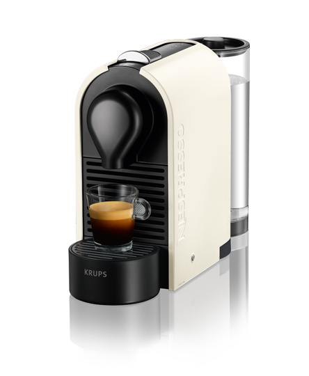 krups u white coffee machine nespresso. Black Bedroom Furniture Sets. Home Design Ideas