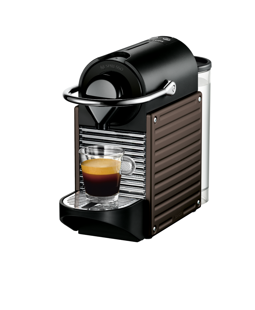 krups pixie brown coffee machine nespresso. Black Bedroom Furniture Sets. Home Design Ideas