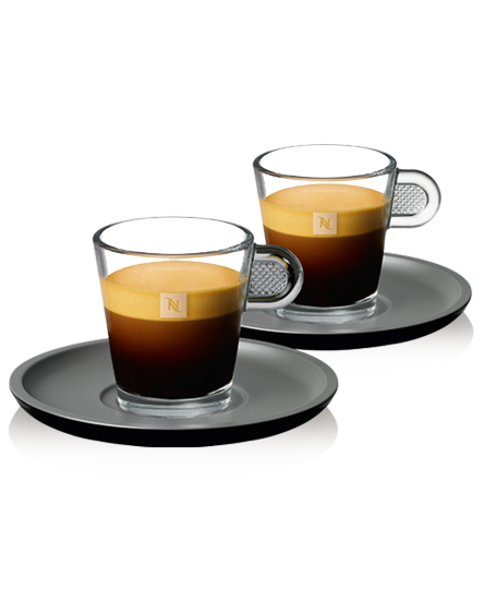 tasses espresso glass tasses caf nespresso. Black Bedroom Furniture Sets. Home Design Ideas