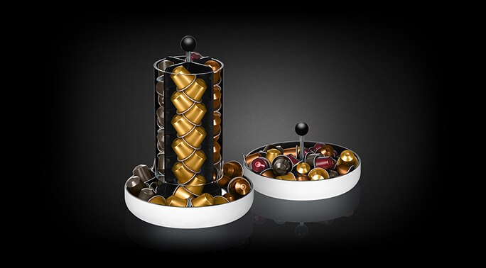 Totem 2 in 1 capsule dispenser accessories nespresso usa - Distributeur de capsules nespresso ...