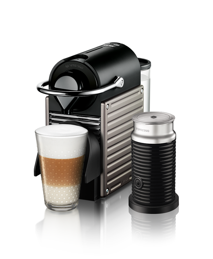pixie electric titanium machine aeroccino nespresso. Black Bedroom Furniture Sets. Home Design Ideas