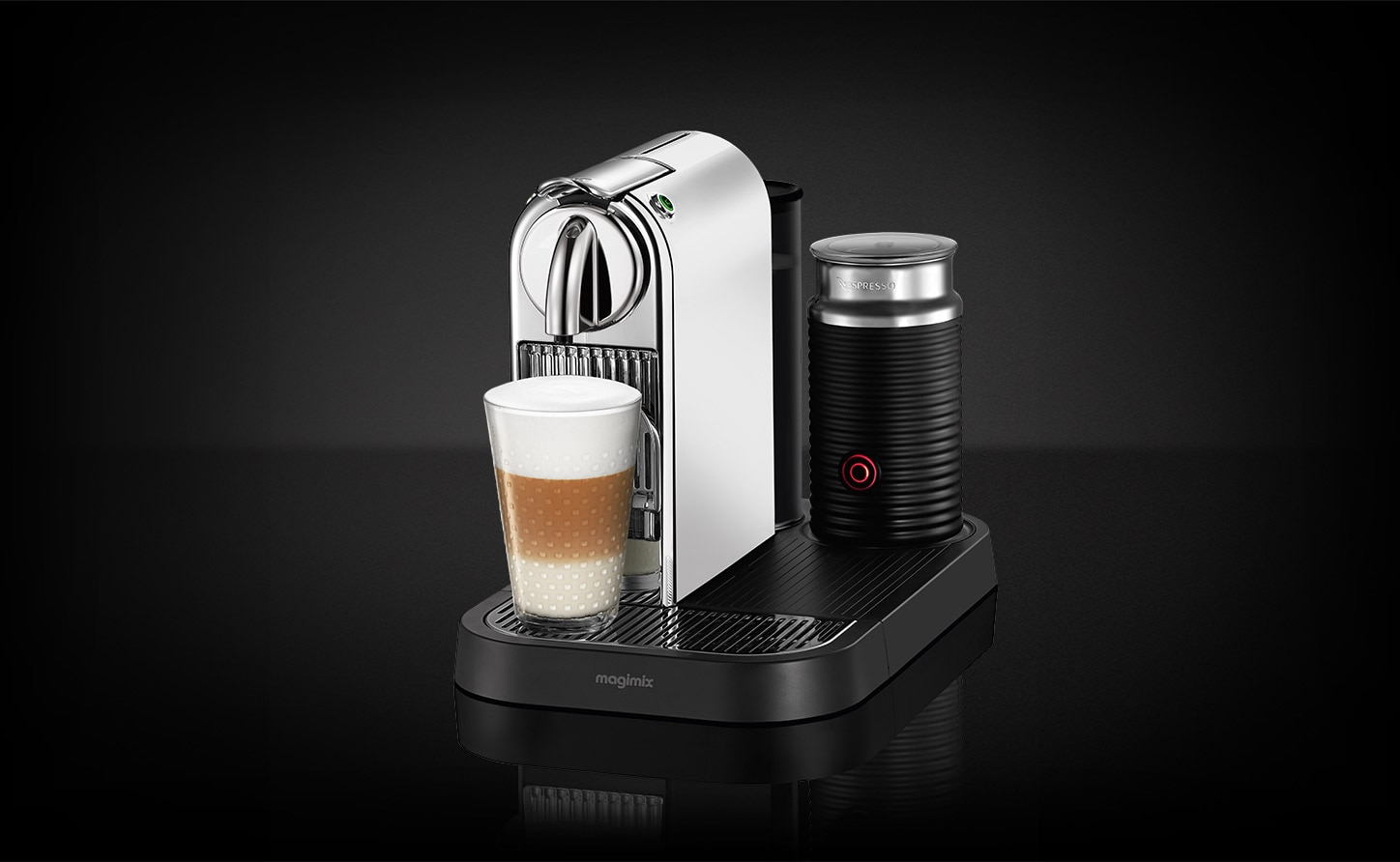 machine caf citiz milk magimix chrome nespresso. Black Bedroom Furniture Sets. Home Design Ideas