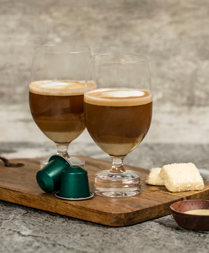 Long Macchiato with a twist featuring Fortissio Lungo