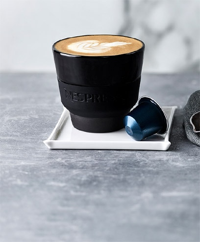 Nespresso double shot latte
