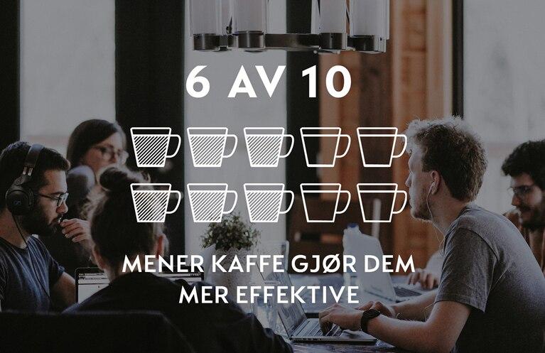 Jobbkaffe gjør ansatte mer effektive